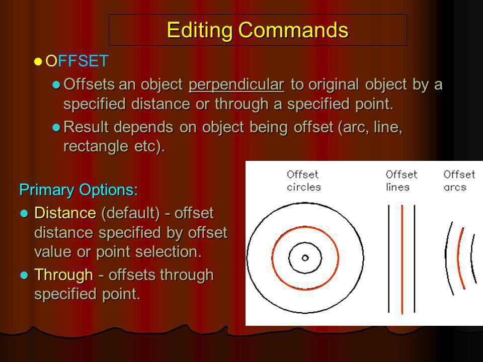 Editing Commands OFFSET