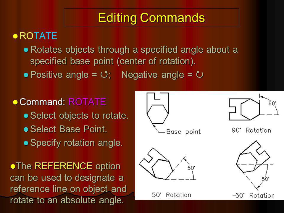 Editing Commands ROTATE