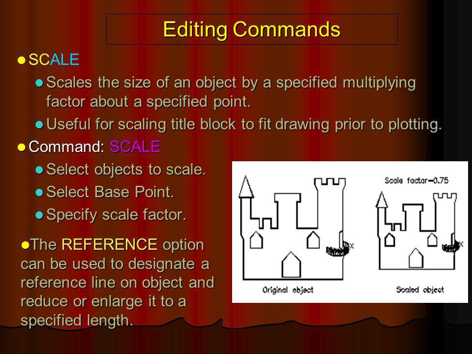 Editing Commands SCALE