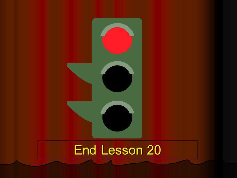 End Lesson 20