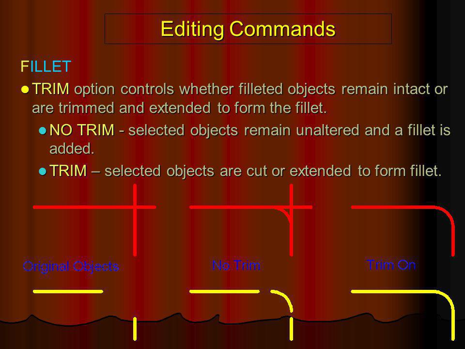 Editing Commands FILLET