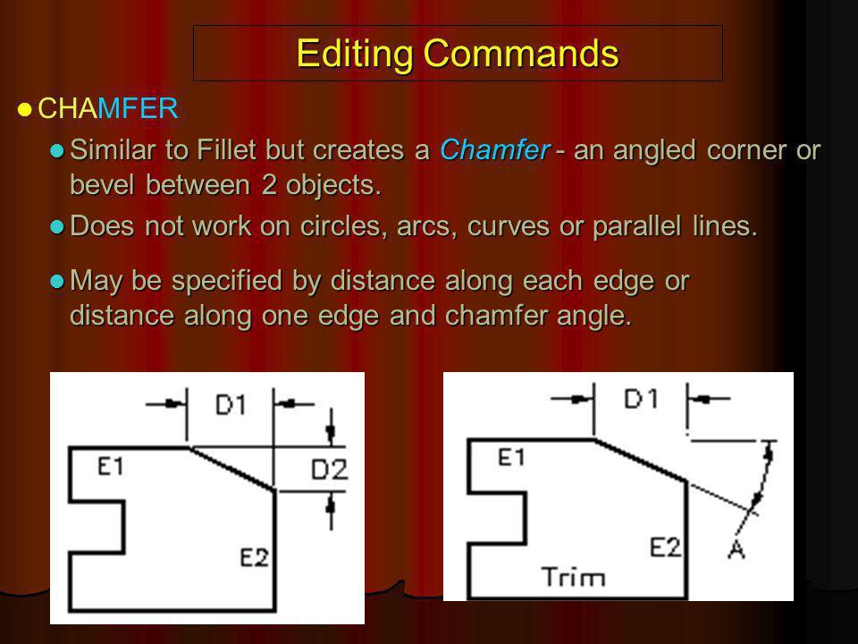 Editing Commands CHAMFER