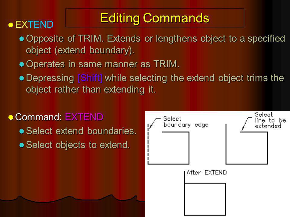 Editing Commands EXTEND