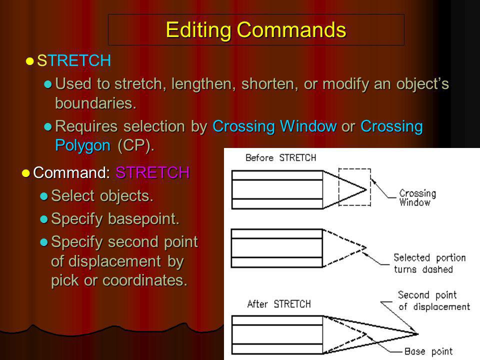 Editing Commands STRETCH