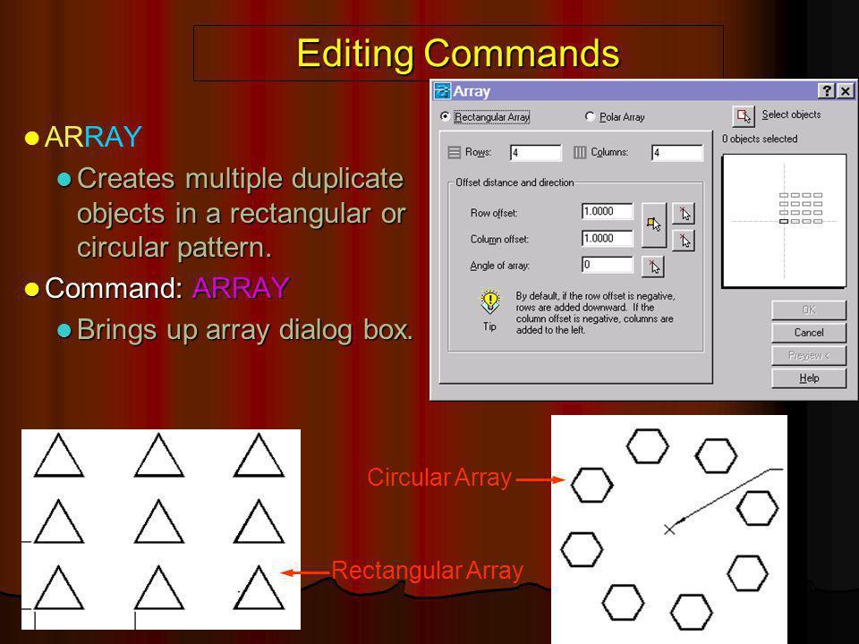 Editing Commands ARRAY
