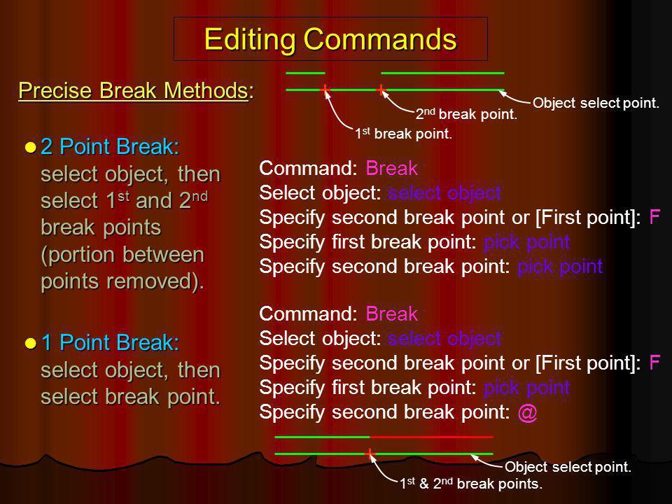Editing Commands Precise Break Methods: