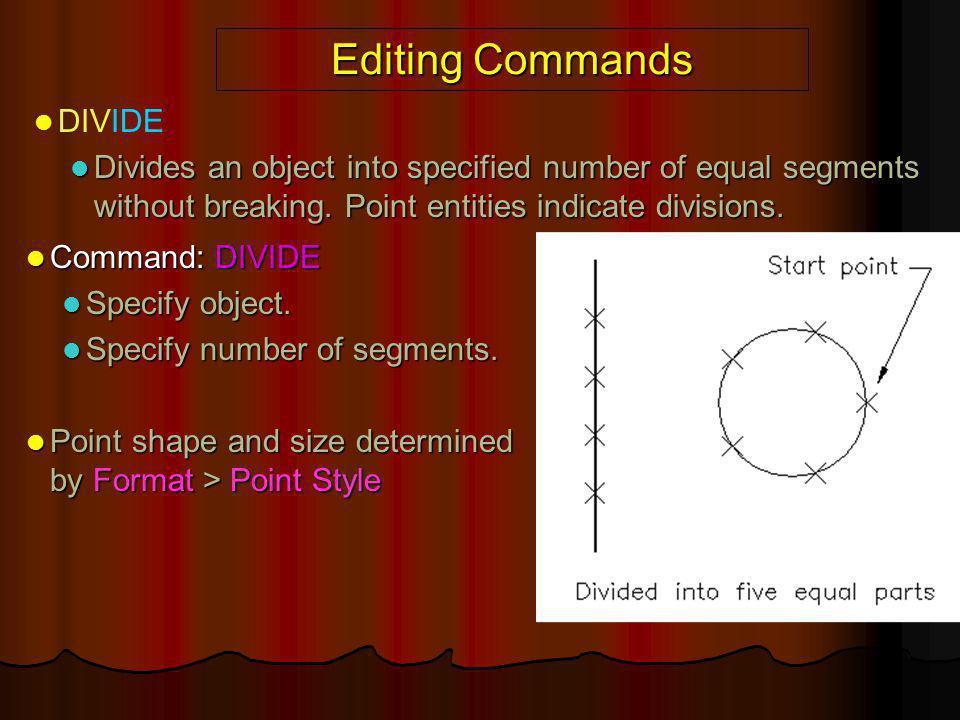 Editing Commands DIVIDE