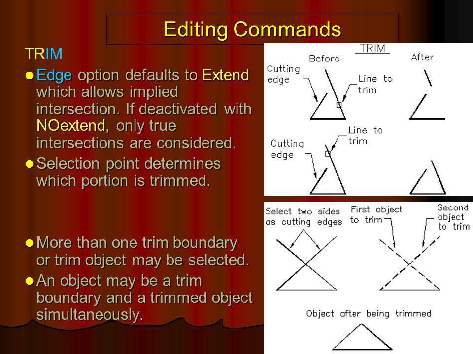 Editing Commands TRIM.