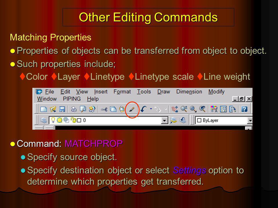 Other Editing Commands