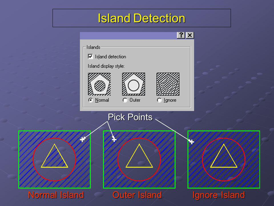 Island Detection Pick Points Normal Island Outer Island Ignore Island