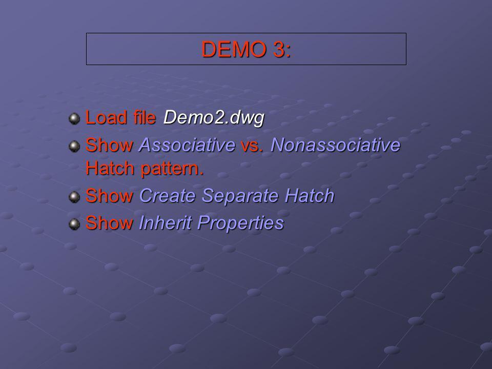 DEMO 3: Load file Demo2.dwg
