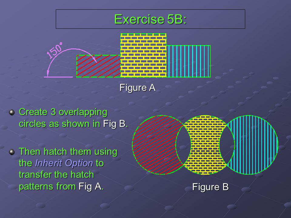 Exercise 5B: Figure A Create 3 overlapping circles as shown in Fig B.