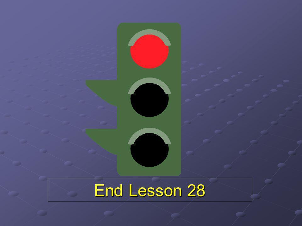 End Lesson 28