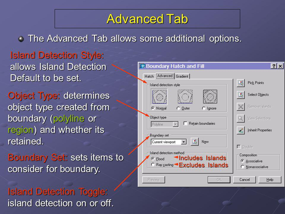 Advanced Tab The Advanced Tab allows some additional options.