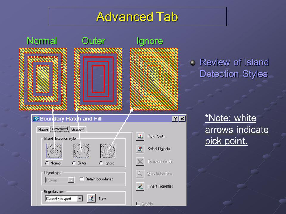 Advanced Tab Normal Outer Ignore Review of Island Detection Styles
