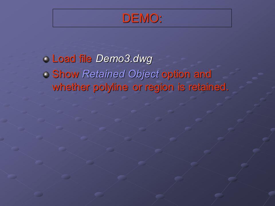 DEMO: Load file Demo3.dwg