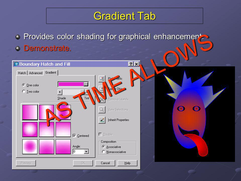 AS TIME ALLOWS Gradient Tab