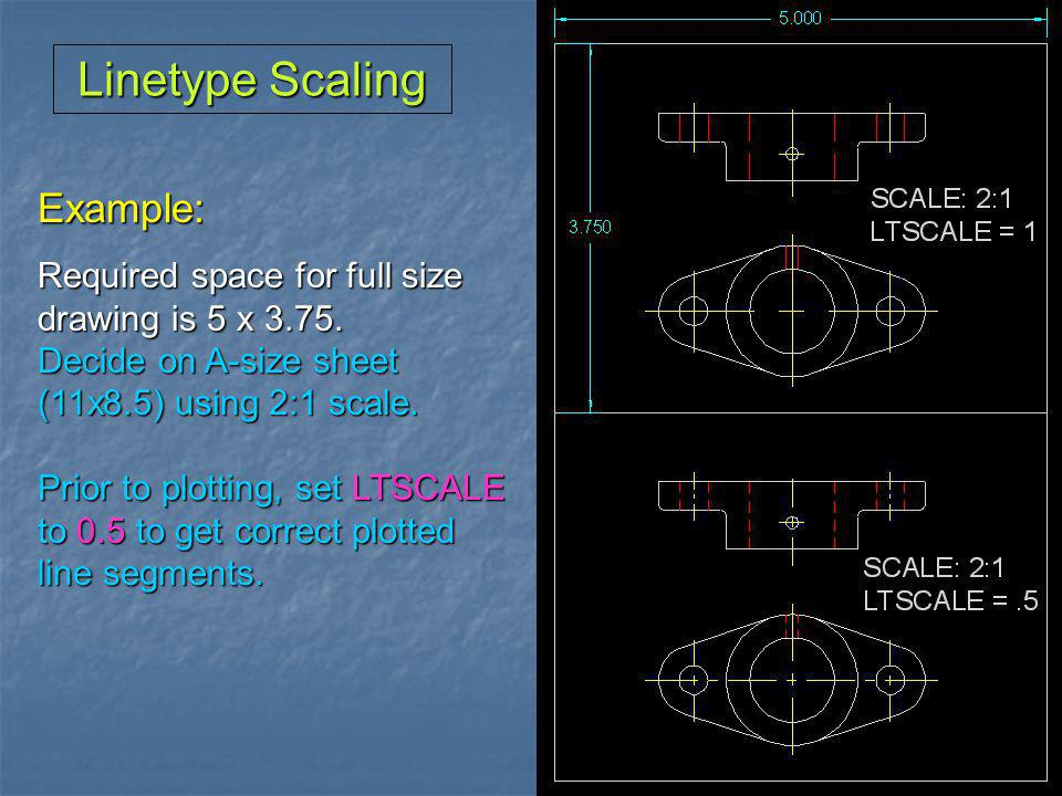 Linetype Scaling Example: