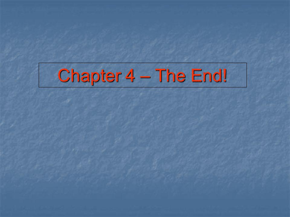 Chapter 4 – The End!