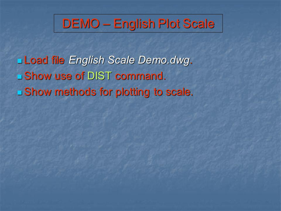 DEMO – English Plot Scale