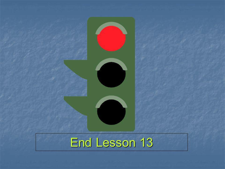 End Lesson 13