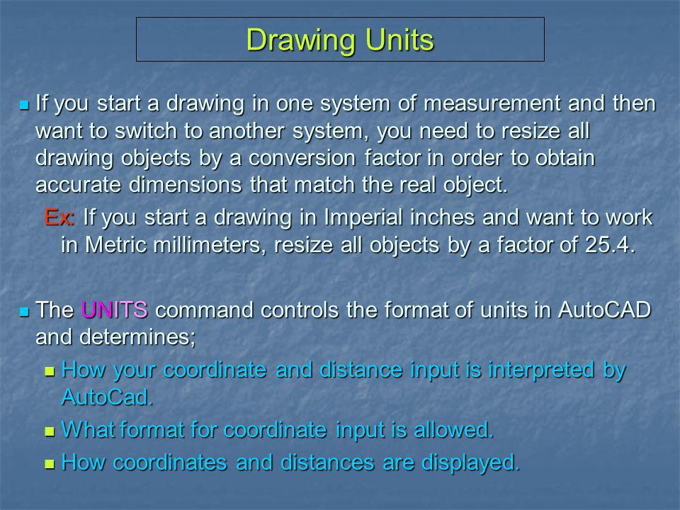 Drawing Units