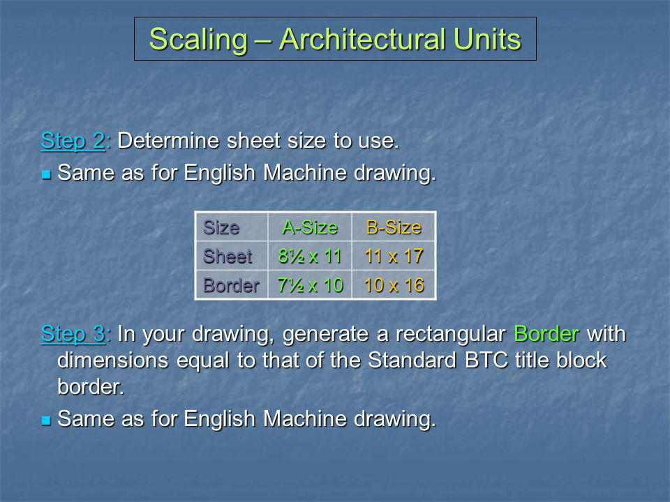 Scaling – Architectural Units