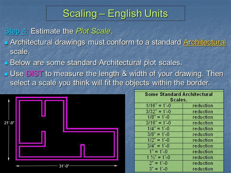 Scaling – English Units