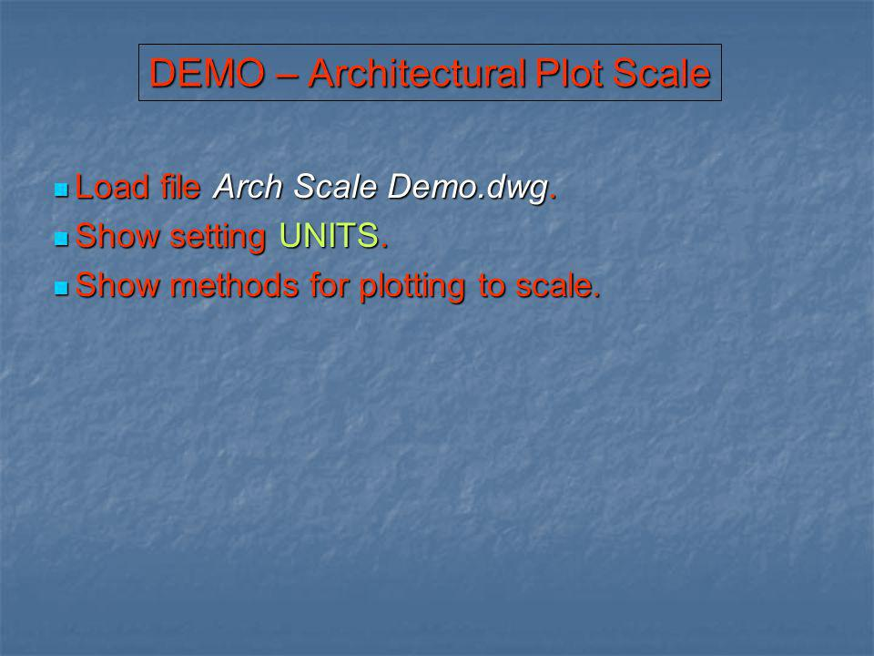 DEMO – Architectural Plot Scale