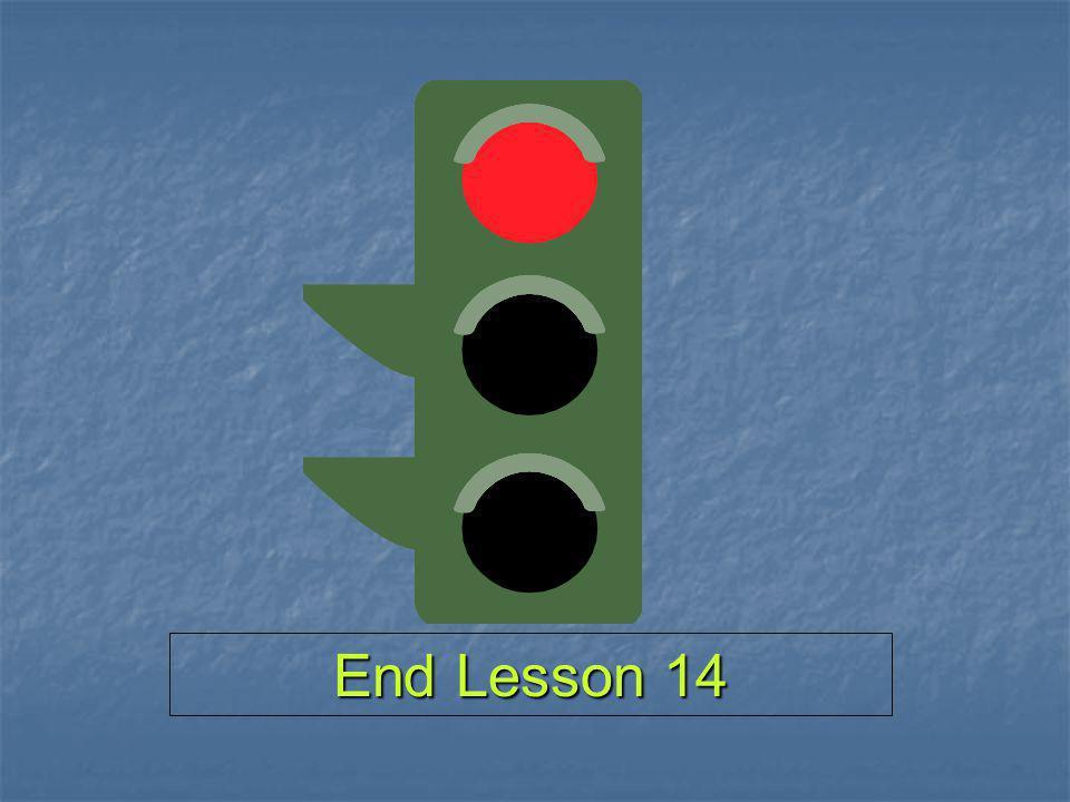 End Lesson 14