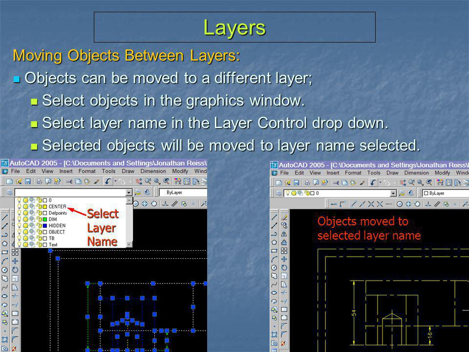Layers Moving Objects Between Layers: