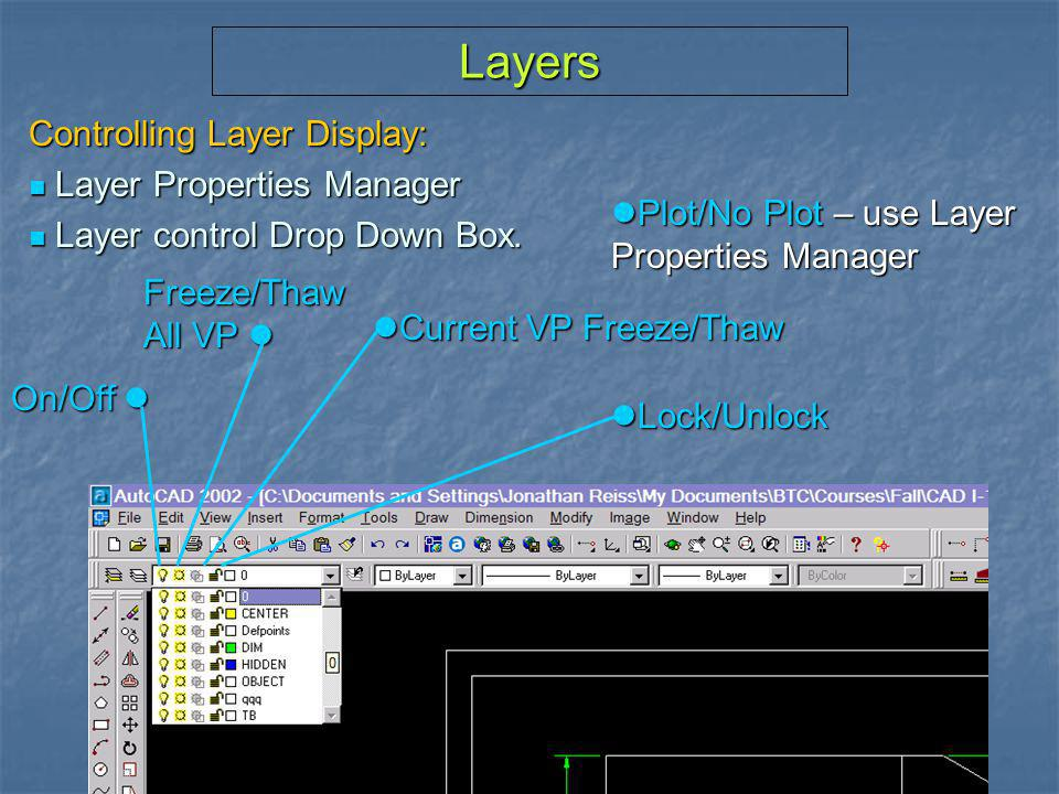 Layers Controlling Layer Display: Layer Properties Manager
