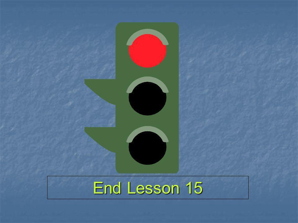 End Lesson 15