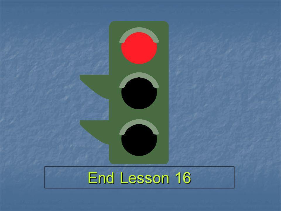 End Lesson 16