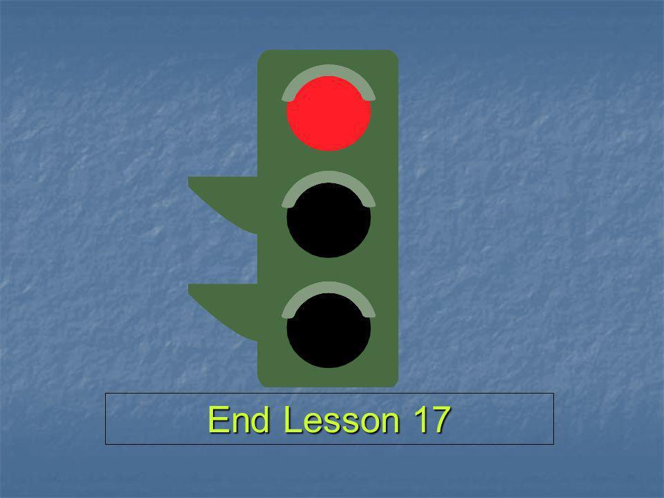 End Lesson 17