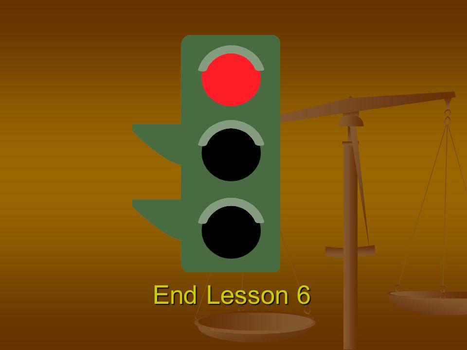 End Lesson 6