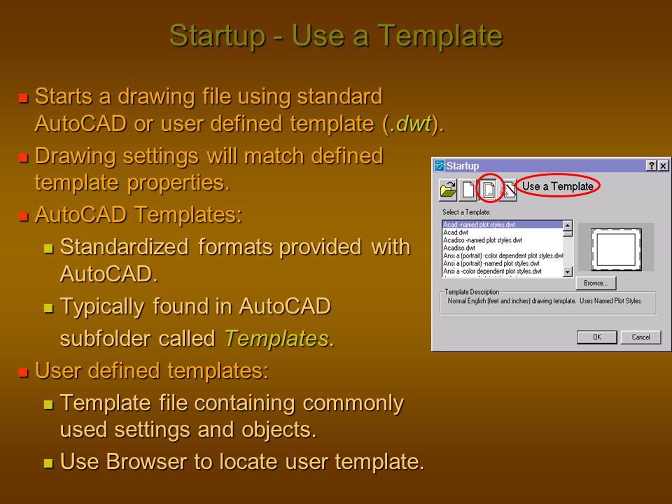 Startup - Use a Template