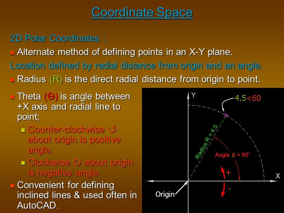 Coordinate Space 2D Polar Coordinates :