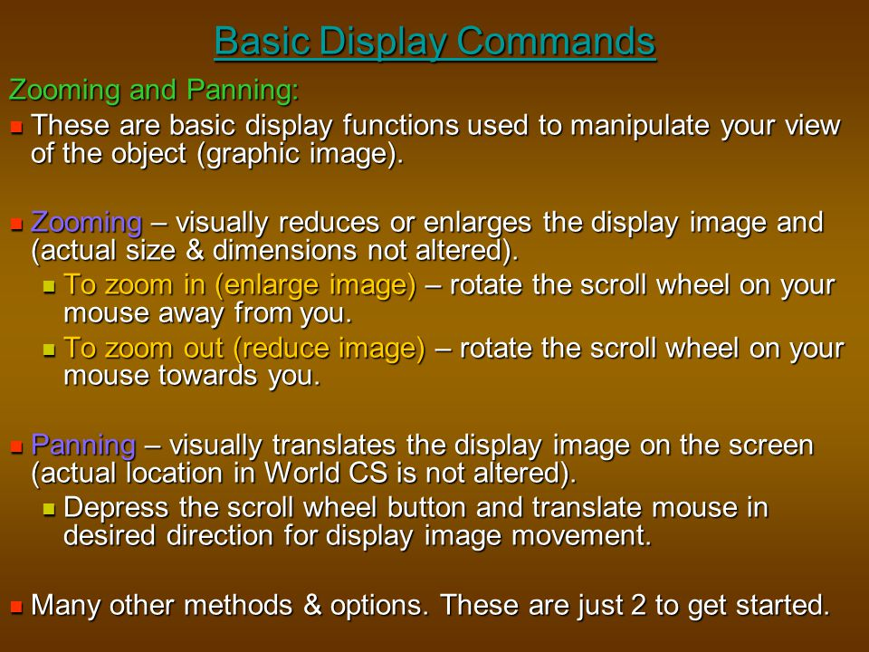 Basic Display Commands