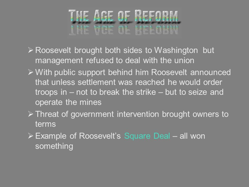 Roosevelt brought both sides to Washington but management refused to deal with the union