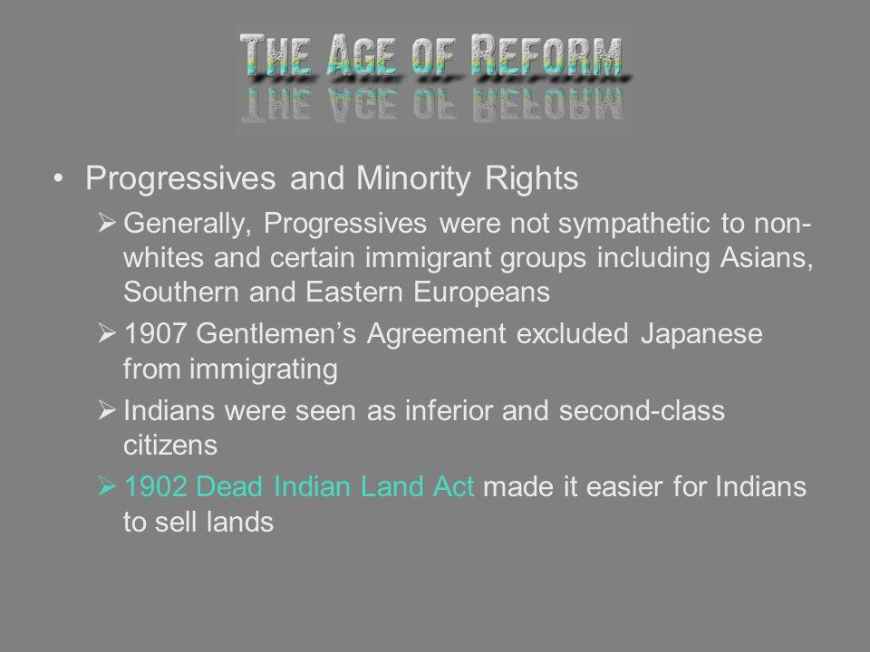 Progressives and Minority Rights