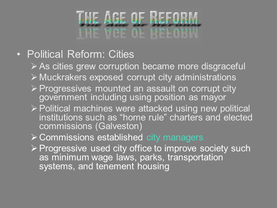 Political Reform: Cities