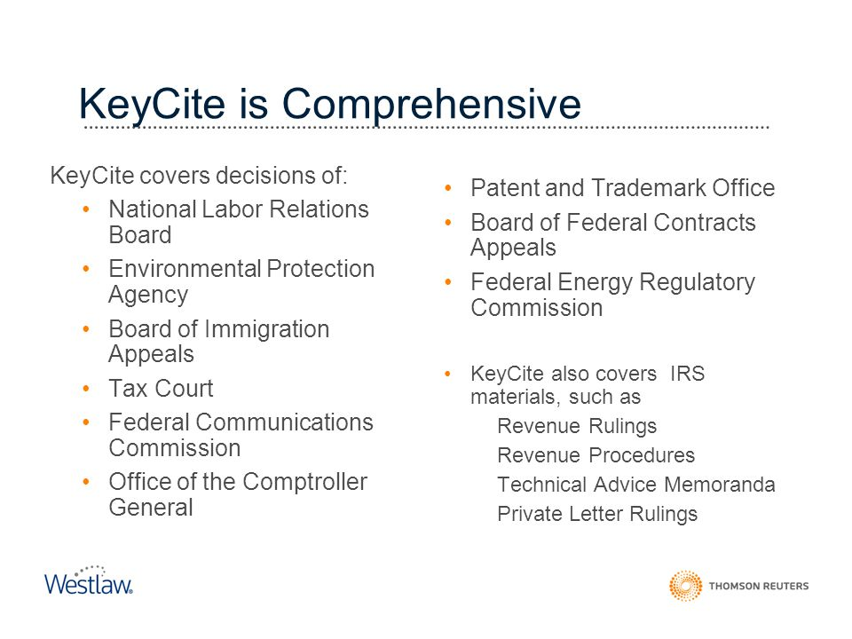 KeyCite is Comprehensive
