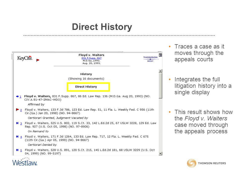 Direct History Cases: History