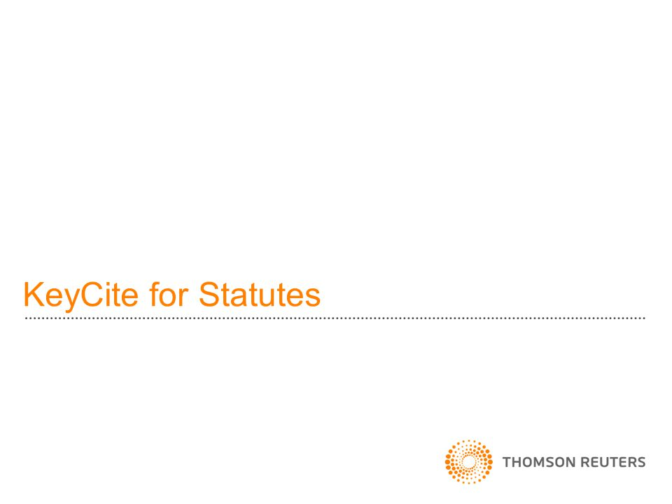 KeyCite for Statutes