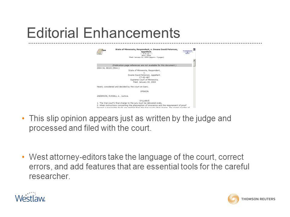 Editorial Enhancements