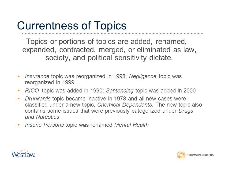 Currentness of Topics