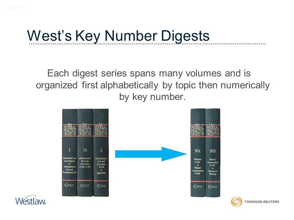 West's Key Number Digests