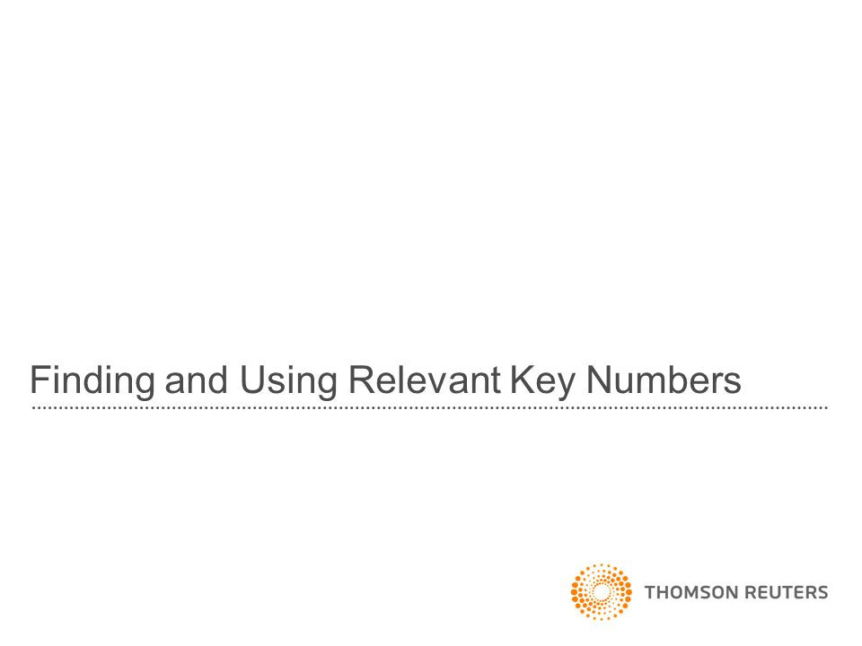 Finding and Using Relevant Key Numbers