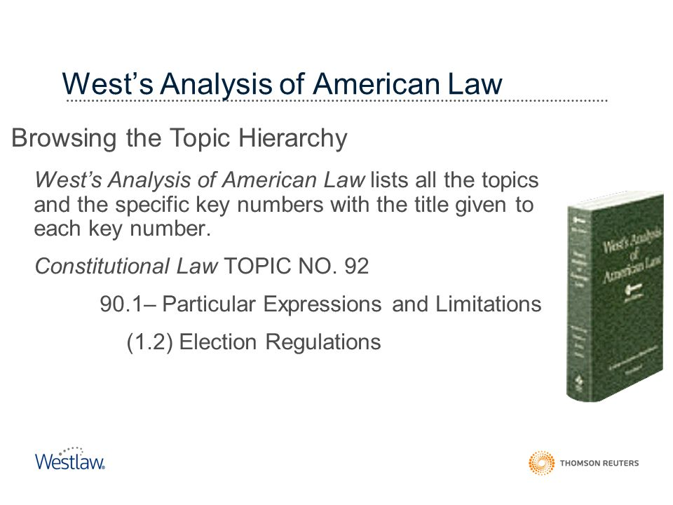 West's Analysis of American Law
